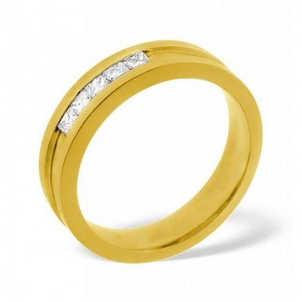 18K Gold 0.22ct H/si Diamond Wedding Band, WB07-22HSY